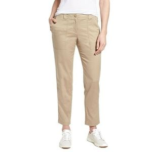 Signature Nordstrom Beige Stretch Crop Pants Chino
